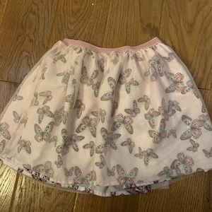 Butterfly tulle overlay skirt